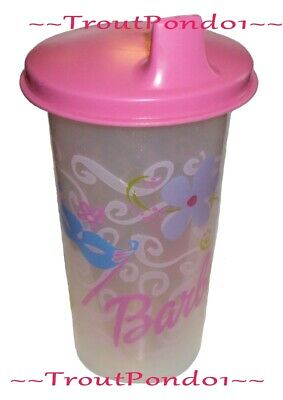 Tupperware 10 Oz Big Bell Tumbler Barbie Doll Sippy Cup Pink