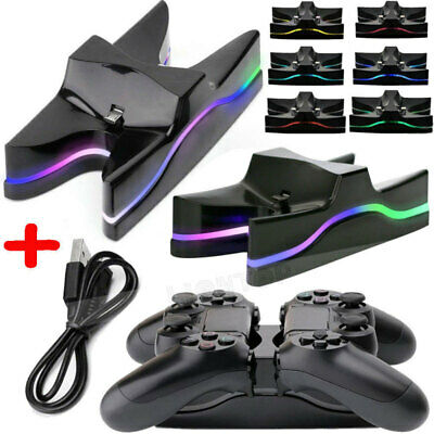 For PS4 Controller Charging Station Dock Stand Dualshock USB Cable Charger Base