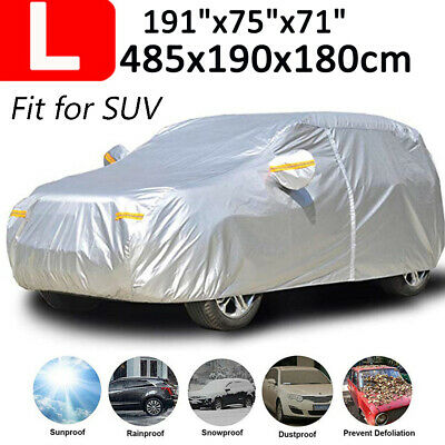 L Size Car Cover 190T Waterproof Sun UV Dust Rain Resistant Protection For SUV