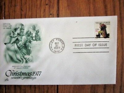 George Washington Prays At Valley Forge Christmas 1977 Fdc