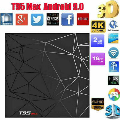 2019 T95 Max 4GB+ 32GB Android 9.0 Quad Core TV Box HD 6K Media Player WIFI AU