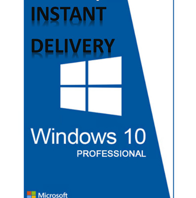 Instant - Windows 10 Pro 32 / 64 Bit  Genuine License Original Activation Key