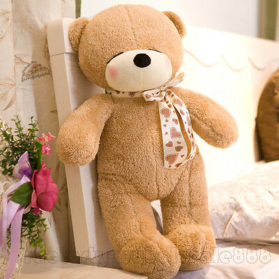 Cute 32'' Brown Teddy Bear Giant Plush Soft Toy Doll Stuffed Animal Kids Gift