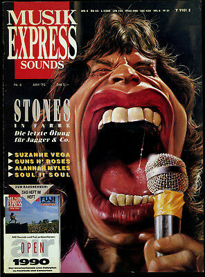 Musik Express Sounds -- 1990 - Nr. 6 -- Stones -- Ohne Extraheft --