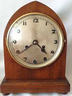 Kienzle Mantel Clock Rare Bauhaus Antique With Pendulum Gong & Key