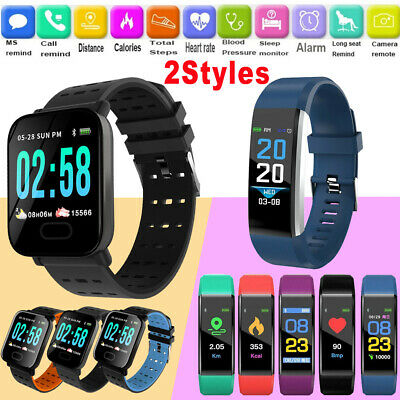 Smart Watch Heart Rate Blood Pressure Monitor Fitness Tracker Bluetooth Watches