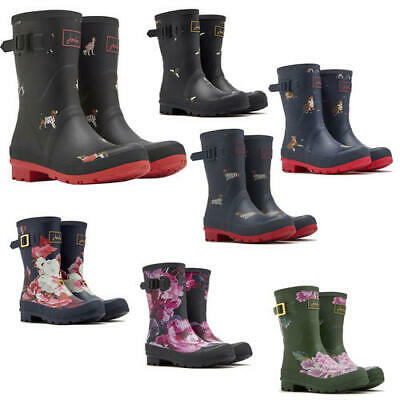 Joules Molly Welly Womens Ladies Mid Calf Wellies Wellington Boots Size UK 4-8