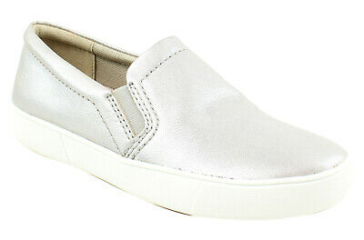 923a25482c0 NATURALIZER WOMENS AIBILEEN Silver Loafers Size 8 (64439) -  14.99 ...