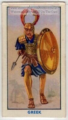 Ancient Greek Soldier Armor Weapons Shield 1930s Trade Ad Card