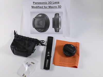 Panasonic 3D LUMIX G 12.5mm/F12 Lens - Modified for Macro 3-D by DrT
