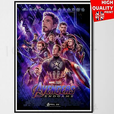 Avengers: Endgame 2019 Marvel Cinematic Movie Poster *LAMINATED OPTION* A4 A3