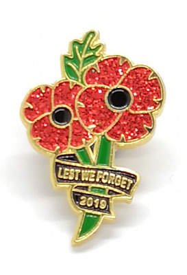 MAN BEE  poppy  pin badge  any town or city can be put on just let me know
