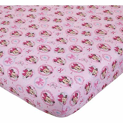 """Disney Minnie Mouse Bows are Best Baby Crib Sheet, 28"""" X 52"""" Pink Girls"""