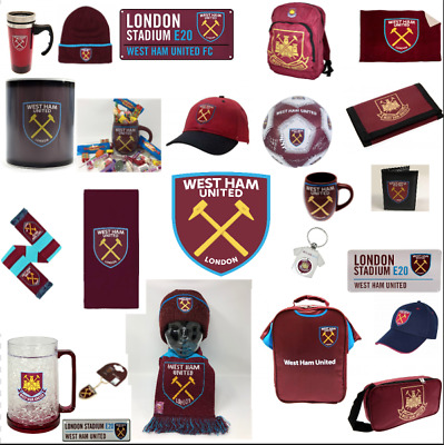 West Ham Football Gift Mug Scarf Keyring Rug Merchandise Elf Lunch Bag Cap Key