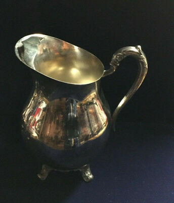 Fb Rogers Crown Stamp / Mark 1883 Vintage Silver Footed Water Pitcher Ice Guard