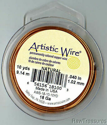18 gauge Solid Copper Artistic Wire Solid Round - 30 Feet_ From RawTreasures