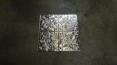 12-12    10  2' x 2' Tin Plated Steel Sheets. Victorian Design Tin Ceilings WoW!