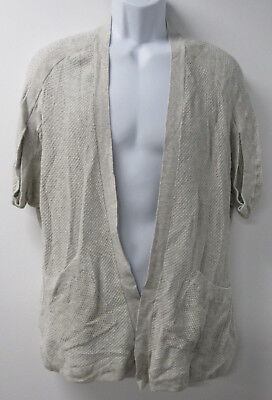 d4fc66ad13b50d Angel of the North Anthropologie Heather Gray Knit S S Open Cardigan  Sweater S