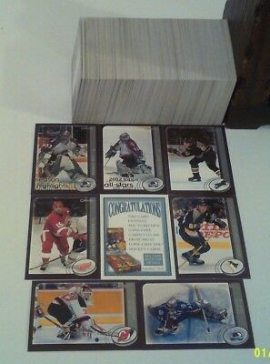 2002-03 OPC Opeechee Base Set(330)-Roy, Lemieux, Yzerman, Brodeur, Jagr, etc