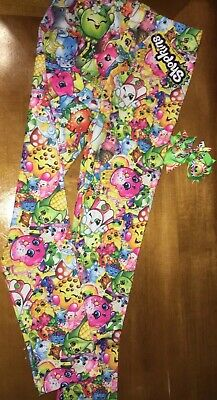 NWT Girls' Shopkins Bunch Leggings Sz 8 + Hair Bow Easter Birthday