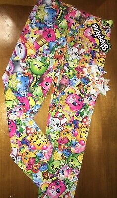 NWT Girls' Shopkins Bunch Leggings Sz 6 + Hair Bow Easter Birthday