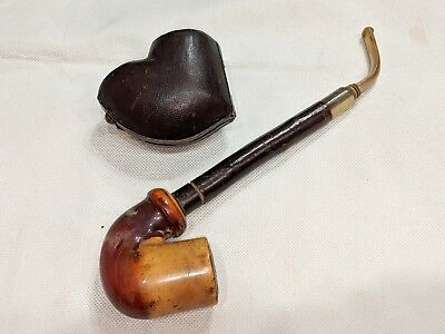 Real Cherry Wood Bent Pipe Made in Austria Case Included