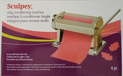 Sculpey Clay Conditioning Machine For Use With Oven Bake Clays New