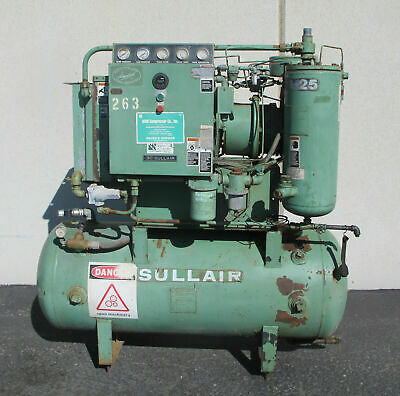 25HP SULLAIR Rotary Screw Air Compressor Model 10-25 ACAC Made in USA