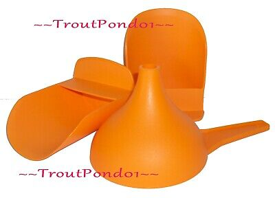 Tupperware Funnel 2 Rocker Scoops Gadgets Orange Kitchen Tools
