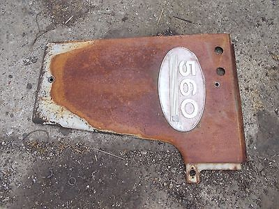 Farmall 560 Tractor IH IHC radiator left side cover panel w/ emblem