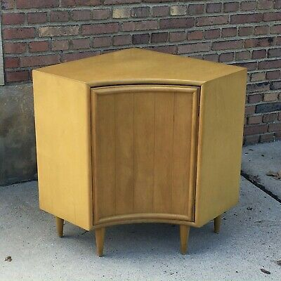 Ultra-Rare Heywood Wakefield Corner Cupboard Wheat M1925