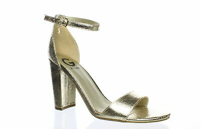 64ffc2ed66a G GUESS SHANTEL Ankle Strap Block Heel Sandals Light Brown Cork Heel ...