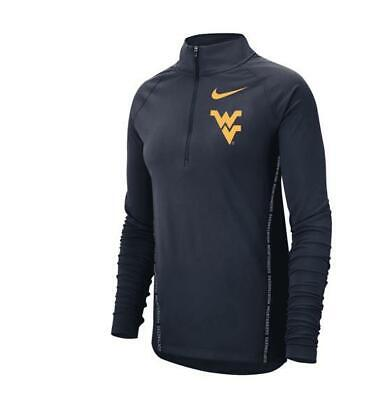 346334a74626 New Womens Nike Wvu West Virginia Mountaineers Half Zip Pullover Core Xxl L  Xl M
