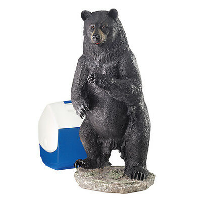 Majestic Fearsome Power of Nature Black Bear Wildlife Sculpture Garden Statue
