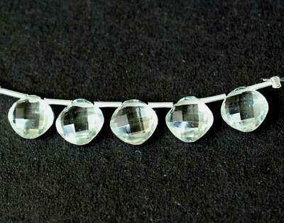 5 Pcs Faceted Fine Green Amethyst Beads Cushion 8 Mm Natural Gemstone #d13434