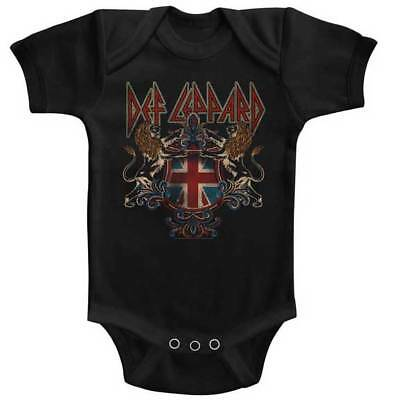 Def Leppard Inglese Defcrest Bambino Tutina Onezies 6-24 Mese