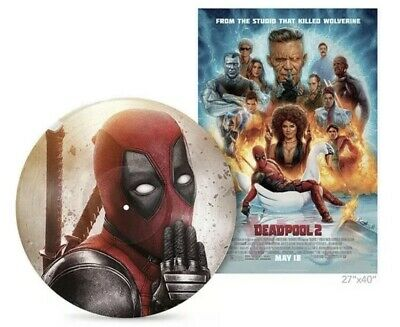 Deadpool 2 Score Vinyl Lp Soundtrack Exclusive Limited Edition With Poster