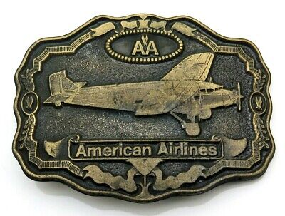 American Airlines Airplane Aviation Oden 1970's Vintage Belt Buckle