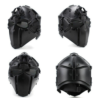 Tactical Helmet CF Game Full Face Goggle Mask Airsoft Paintball Protective 3L