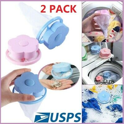 2 Pack Reusable Floating Pet Fur Catcher Laundry Lint Pet Hair Wool Remover USA