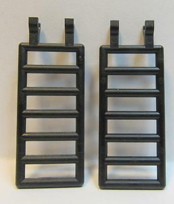 LEGO LEGOS Set of 2 NEW Ladders 7 x 3 Bar with Double Clips  BLACK