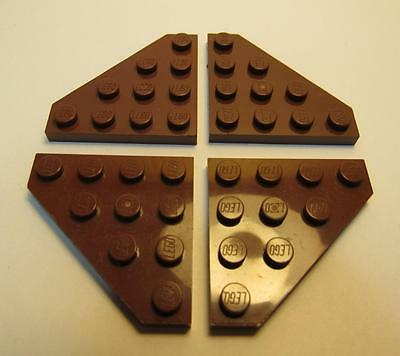 4x Wing Wedge flat 4x4 Cut Corner brown//reddish brown 30503 NEW Lego