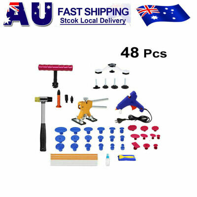 48x Car Paintless Dent Repair Tools Dint Hail Damage Remover Puller Lifter Kit