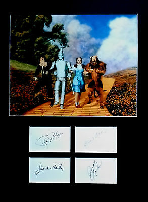The WIZARD OF OZ signed autographs DISPLAY Judy Garland Bert Lahr Jack Haley