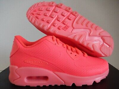Details about WMNS NIKE AIR MAX 90 HYPERFUSE PREMIUM ID SOLAR RED WHITE SZ 9 [653606 993]