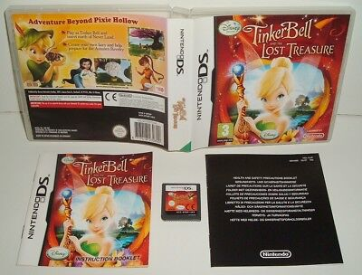** TINKERBELL AND THE LOST TREASURE ** NINTENDO DS/LITE/DSi/2DS/3DS GAME  DISNEY