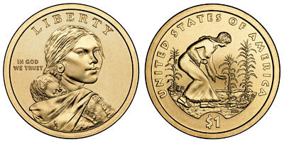 2009 D Sacagawea Three Sisters Native American Indian One Dollar Coins U.S. Mint