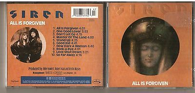 Rare First Press Original SIREN All Is Forgiven CD Canada DIsque Americ  1989