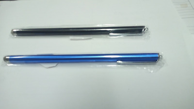 2 x Univ. Metal Mesh 7 In. Capacitive Touch Stylus Pen For Phone Tablet Laptop