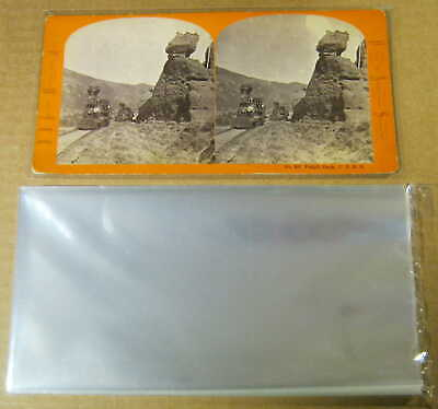 100 STEREOVIEW STEREOGRAPH STEREOSCOPIC SLEEVES ARCHIVAL SAFE 1.5 mil Poly